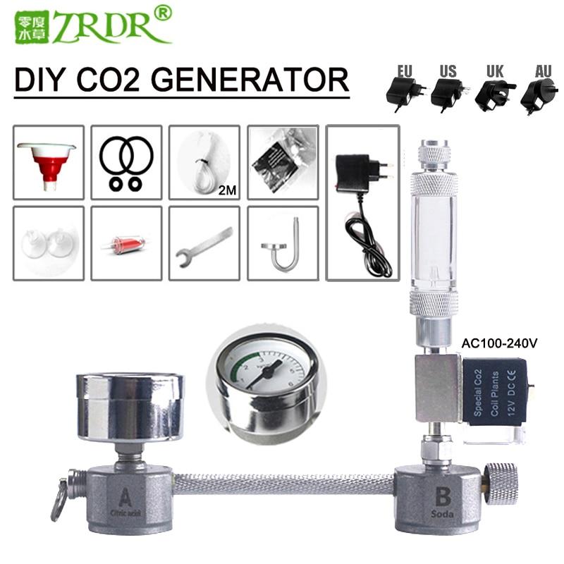 ZRDR Aquarium kit sistema generatore di CO2 fai da te generatore di CO2, diffusore contatore bolle con elettrovalvola, per/crescita delle piante acquatiche|CO2 Equipment| - AliExpress