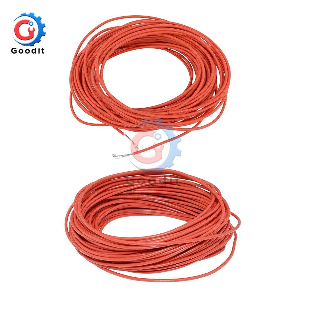 10 м 10 м UL-1007 24AWG Монтажный провод 80C/300 В шнур DIY электрический провод кабель 24 AWG 1,4 наружный диаметр изолированный ПВХ кабель