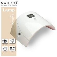 NAILCO 36 Вт Светодиодный/УФ лампа для маникюра светодиодный Сушилка для ногтей лампе УФ США/Великобритания/ЕС вилка сушильный Гель-лак для ногтей инструменты для дизайна ногтей