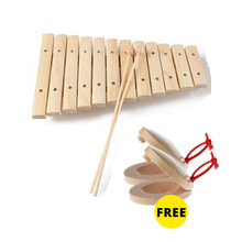 Freeship1pc children kids natural Wooden 8 12 15 note tone xylophone percussion Orff musical instrument music early development