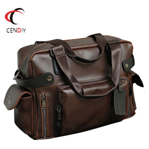 Модная сумка Crazy Horse, кожаный мужской портфель, брендовая роскошная мужская сумка-мессенджер для мужчин, дорожная сумка, мужская деловая сум...