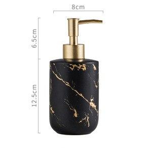 Image 5 - Нордическая мраморная бутылка для хранения зерна 300 мл для ванной дезинфицирующий шампунь для рук бутылки жидкое мыло керамический пресс бутылка