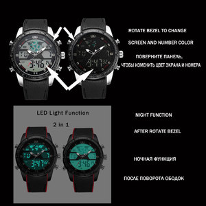 Image 3 - BOAMIGO Mens Watches Men Sports Watches Mens Quartz LED Electronic Digital analog Clock Male Military Wrist Watch waterproof
