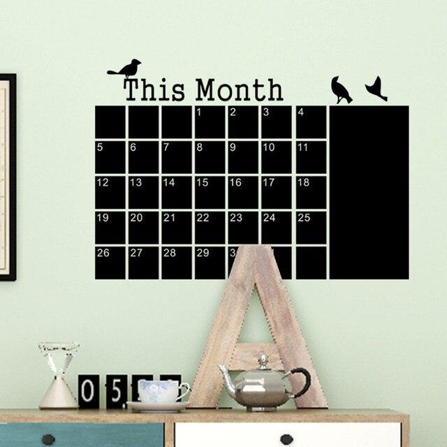 Blackboard Chalk DIY Monthly Planner Calendar 8