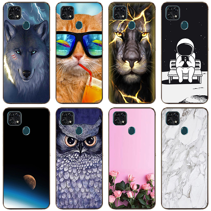 Patterned Case For ZTE Blade 20 Smart Soft TPU Case Phone Back Cover For  ZTE Blade 20 V1050 Protective Shells Case