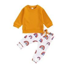 Outfits Sweater Rainbow-Pants Knitted Newborn Infant Baby-Girl Boy Autumn Spring Tops