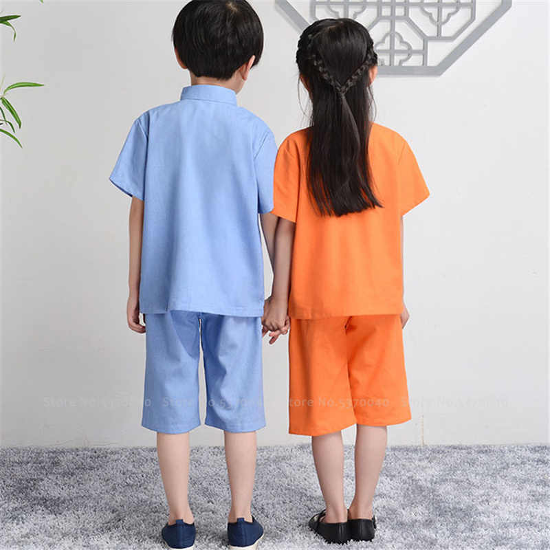 Shorts Outfits Set 6M-3Y Toddler Baby Boy Girl Chinese Style Stand Collar Tang Suit T-Shirt Tops ,SIN vimklo