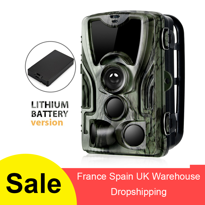 Suntekcam HC-801A With Lithium Battery Hunting Trail Camera 16MP 1080P Hunter IP65  0.3s 850nm Wild Chasse