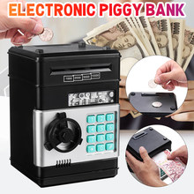 Caja de dinero con contraseña electrónica, cerradura de clave de código, monedas automáticas, caja de dinero para ahorro de dinero, Mini caja fuerte, regalo para niños