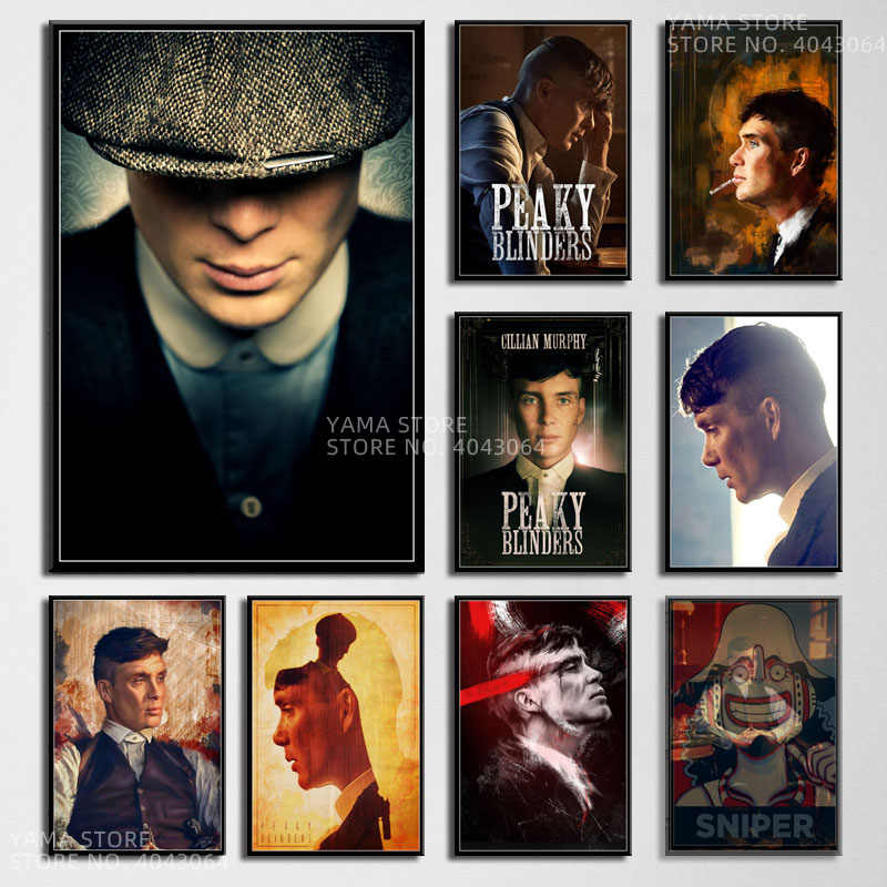 j183 thomas shelby cillian murphy movie star hot tv series gift wall art decor painting poster prints canvas living home