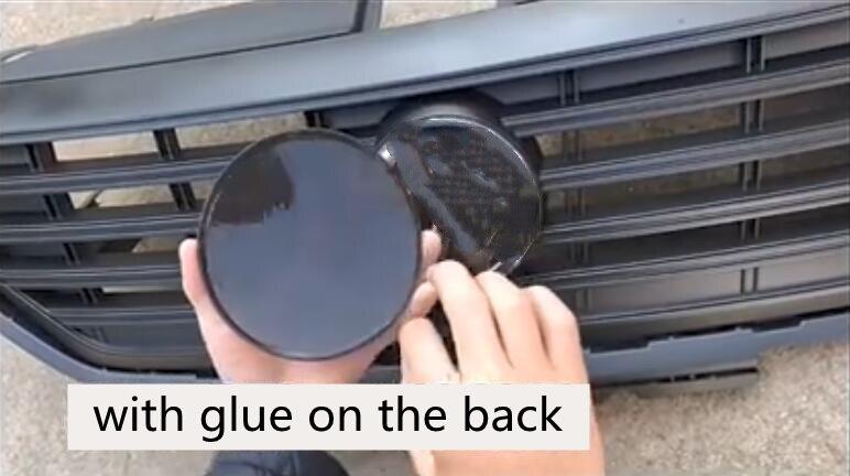 1x передние черные зеркальные крышки решетки воина, темные эмблемы самурая, головной капюшон с дьявольским логотипом для VW Volkswagen 2017 ~ 2020 Tiguan L