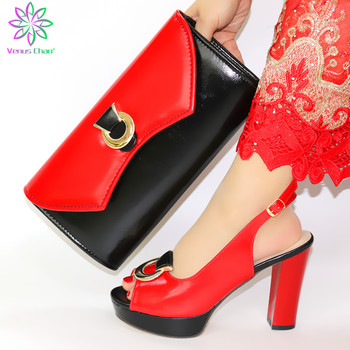 African Matching Shoe and Bags Italian In Women Women Luxury 2020 Rhinestone Wedding Party Shoes Shoes and Bags To Match on Sale