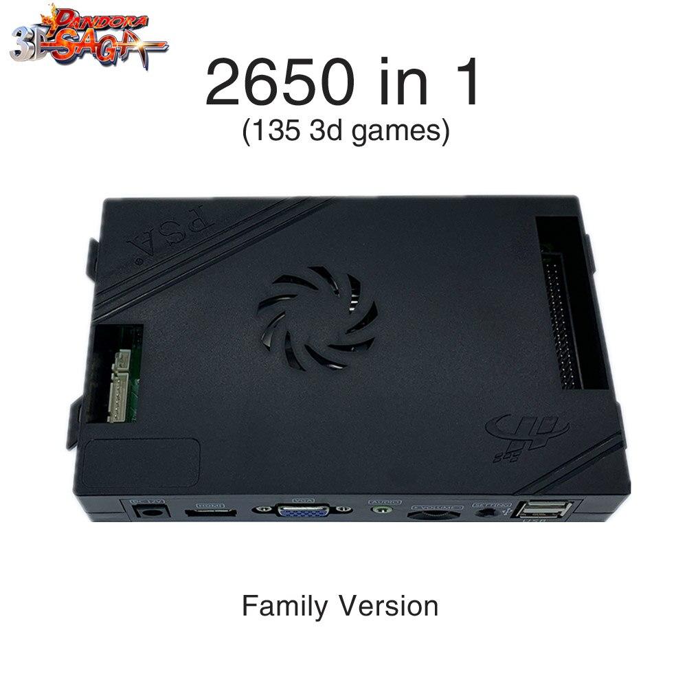 2448 в 1 Pandora игровая коробка 3D семейная версия доска 40p аркадная плата для Бесплатной Игры монета HD видео Jamma игры HDMI VGA материнская плата