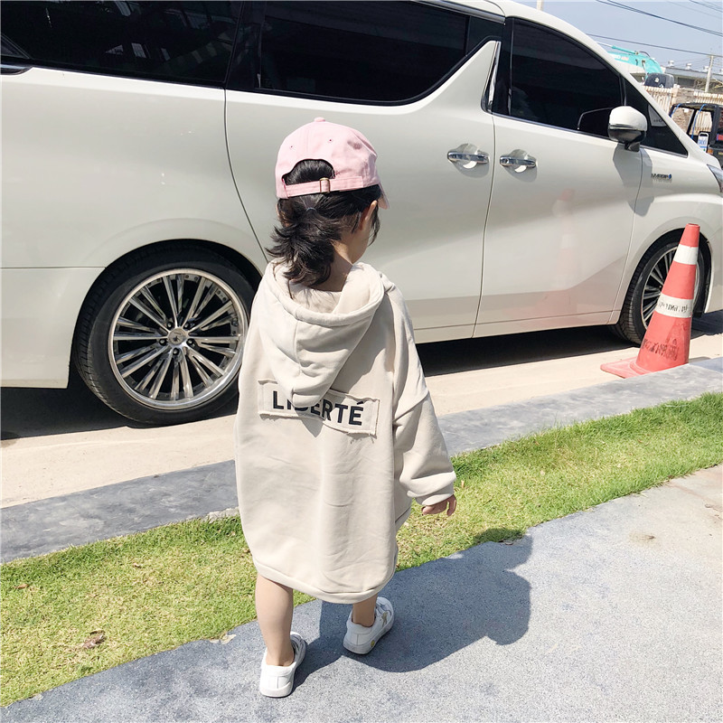Letters With Caps Baby Cotton Casual Hoodies 2019 Spring Baby Girls Long Sweatshirt Big Pockt Front Kids Loose Outerwear Clothes