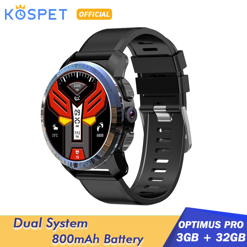 "KOSPET Optimus Pro 3GB 32GB Smart Watch GPS For Men WIFI Heart Rate Monitor 1.39"" Camera Dual System 4G Smartwatch Android Phone(China)"