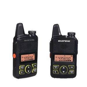Image 5 - جهاز اتصال لاسلكي صغير Baofeng BF T1 LCD UHF FM Ham CB راديو اتجاهين للأطفال 1500mAh HF جهاز إرسال واستقبال البيني