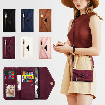 Luxury Leather Case For iPhone SE 2020 Strap Diagonal Wallet For iPhone 11 Pro XS Max XR X 6 6s 7 8 Plus Card Slot Phone Cover