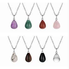 ASHMITA для женщин натуральный камень капли воды кулон Круглый слеза подвески в виде Капли Ювелирные изделия ожерелье серьги для DIY изготовления