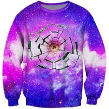 Hoodie Galaxy Men Sweatshirts for 3D Space Geek Hoodies 2019 Autumn Winter