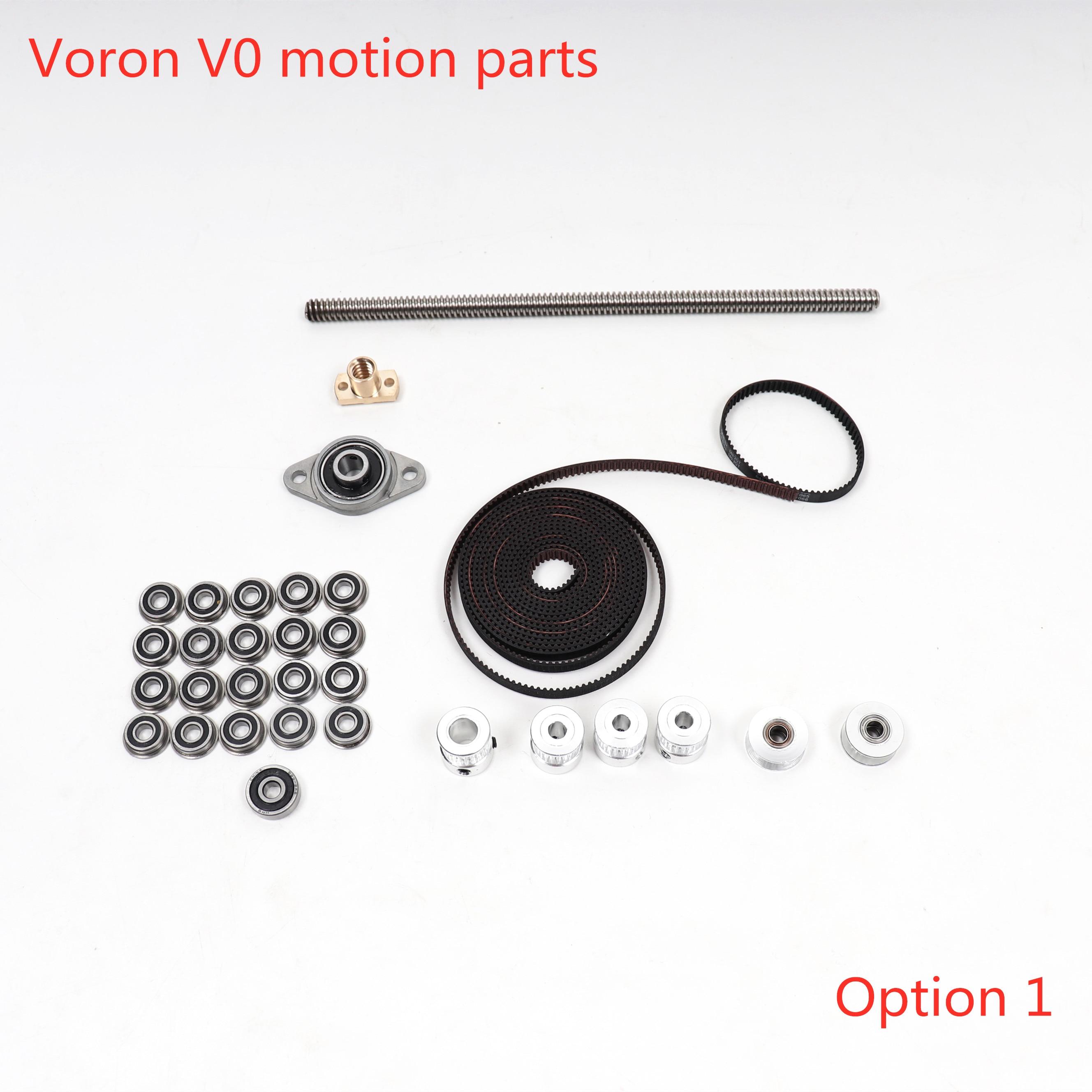 Blurolls Voron V0  3d Printer Motion Parts Gates Belt Lead Screws GT2 20T Pulleys Idlers Bearings,Hiwin MGN7H Rails Optional