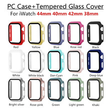 Tempered-Glass-Cover All-Round-Protector Iwatch-Shell Bumper Pc-Frame Series 6-Case