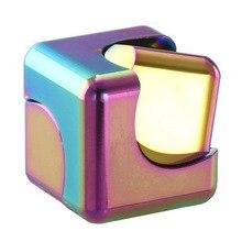1 шт. магический куб Спиннеры два в одном Спиннер Вихрь квадратные ручные игрушки палец Профессиональный антистресс магнитные шарики