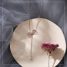 Zs Элегантная подвеска со стразами фианит ключицы ожерелья для