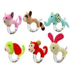 Погремушка для детей, новый дизайн, плюшевые детские игрушки с ручной колокольчиками, высокое качество, подарок для новорожденного, в виде ж...