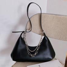 Высококачественная женская сумка в стиле ретро однотонная черная