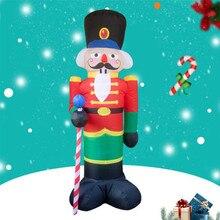 240cm מפצח אגוזים אוויר מתנפח סנטה קלאוס חיצוני חג המולד קישוטים לבית חצר גן תפאורה החג שמח נואל 2019