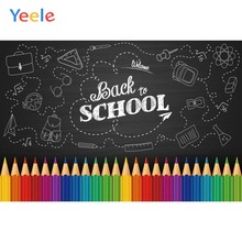 Children Back To School Pen Pencil Baby Birthday Party Black Blackboard Backdrop Vinyl Photography Background For Photo Studio(China)