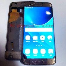 Сломанный ЖК дисплей для samsung s7edge s8 9 10 plus note8 черный