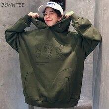 Hoodies Frauen 2020 Koreanische Art Street Student Trendy Lose Dünne Open Gedruckt Einfache Mode Damen Sweatshirts Chic Casual