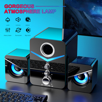 For Desktop Home Theater System PC Bass Subwoofer Bluetooth Speaker Computer Speakers Music Surround For Boombox Desktop Laptop 1