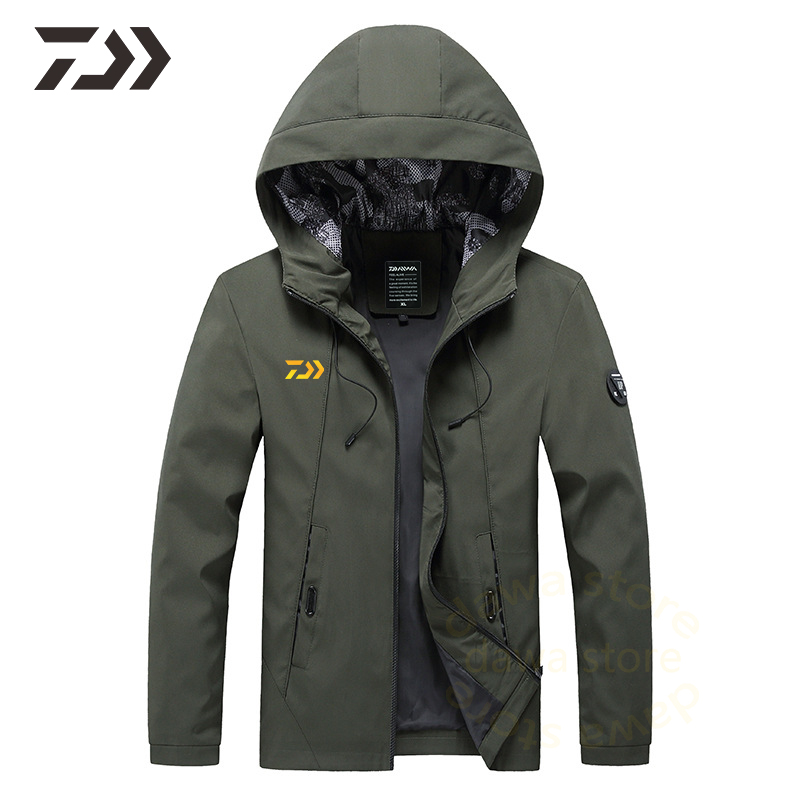 Responsible Daiwa Fishing Jacket For Men Solid Fishing Clothes Breathable Long Sleeve Fishing Shirt Black Coat Men Outdoor Sports S-6xl 2019 Latest Style Online Sale 50%