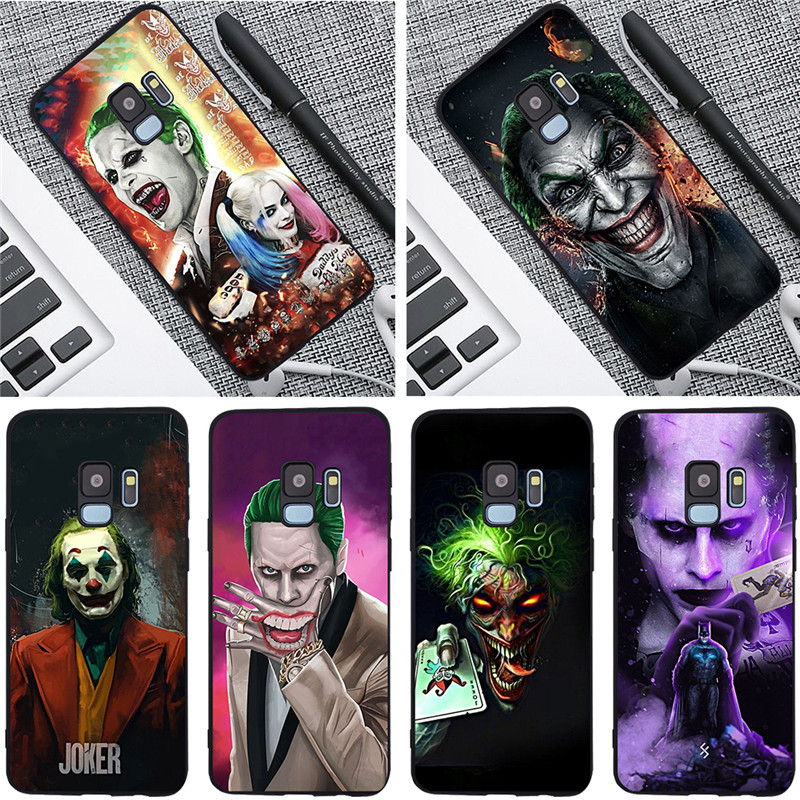 Joker For Samsung Galaxy S6 S7 Edge S8 S9 S10 Plus Lite Note 8 9 10 A30 A40 A50 A60 A70 M10 M20 phone Case Cover coque etui cool in Half wrapped Cases from Cellphones Telecommunications