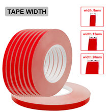 Cinta de transferencia de 8mm, 12mm, 20mm de ancho, doble 30 metros/rollo, cinta adhesiva conductora térmica lateral para Chip, cinta LED PCB, disipador térmico