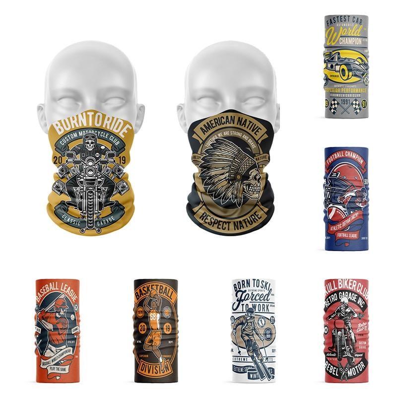 New Style Men's Sports Turban Summer Neck Gaiter Magic Scarf Protection Face Wrap Seamless Tubular Women Headband Unisex Bandana