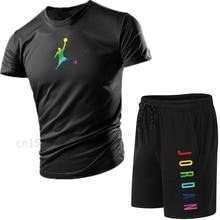 2021new masculino esportes correndo terno jordan-23-marca respirável camiseta + calças esportivas de duas peças terno de treinamento de basquete masculino