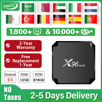 X96 MINI IPTV Box Android 9.0 S905W Dutch Arabic IPTV QHDTV Spain Belgium IPTV Netherlands Italy Spain no app included X96mini