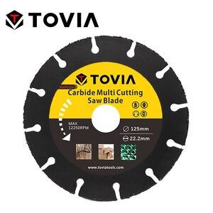 Image 1 - TOVIA 125mm piła węglikowa ostrza cięcie drewna tarcza do cięcia drewna tarcza Multitool przyrząd do cięcia drewna szlifierka kątowa do drewna