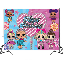 LOL Surprise Doll Party Backdrops Curtain Photobooth Backdrop Children's Birthday Party Wall Decorations Backdrop Stand
