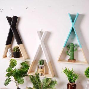 Image 5 - נורדי סגנון משתלת עץ X תליית קישוט מסגרת לילדים חדר עץ דקור Rack עבור סקנדינבי חדר ילדים