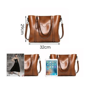 Image 3 - Herald Fashion Women Leather Handbags Ladies Large Casual Tote Bag Quality Female Shoulder Bags Bolsas Femininas Sac A Main
