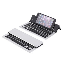 F18 Ultrathin Wireless Bluetooth 3.0 Keyboard Aluminium Alloy Foldable Keyboard Stand For S