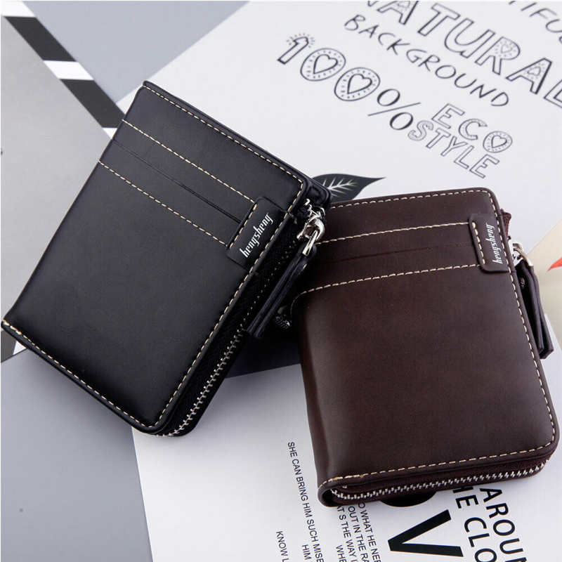 crédito rfid bloqueio zíper fino carteiras de bolso