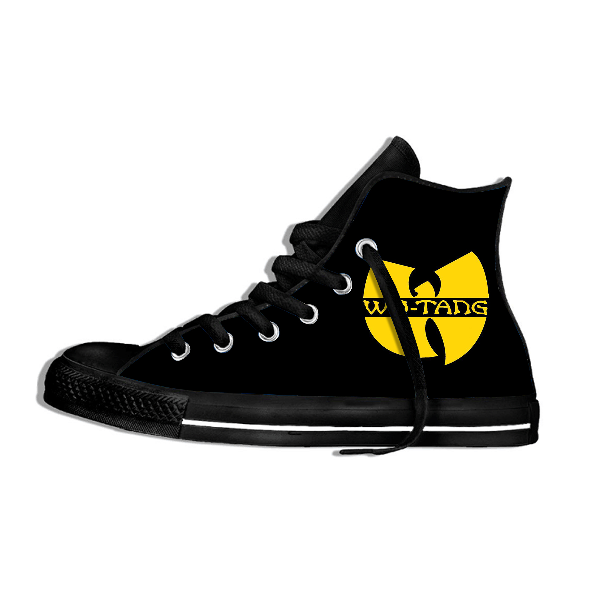 2019 New Fashion Music Band Wu Tang Breathable Shoes Unisex  Walking Comfortable Lightweight High Top Sneakers