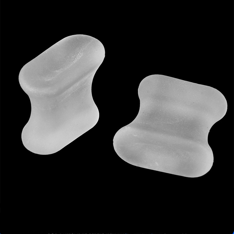 2pcs Hot  DAYFULI Silicone Gel Toe Separator Spacer Straightener Thumb Valgus Corrector Relief Foot Bunion Pain Foot Care Pad