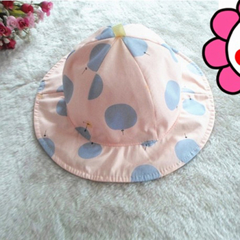 Boutdoor Baby Girl sportowa czapka wiosna lato maluch dzieci kapelusz słońce czapki Polka Dot dziecko kapelusz typu Bucket dziewczyna chłopiec słońce plaża bieganie kapelusze tanie i dobre opinie CN (pochodzenie) Dziewczyny Pasuje prawda na wymiar weź swój normalny rozmiar baby hat Oddychające Poliester