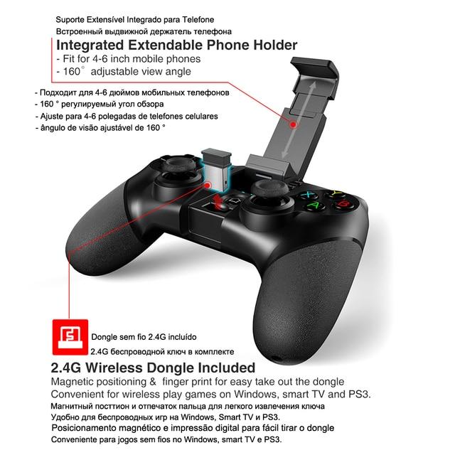 PG-9076 Bluetooth Gamepad Game Pad Controller Mobile Trigger Joystick 3